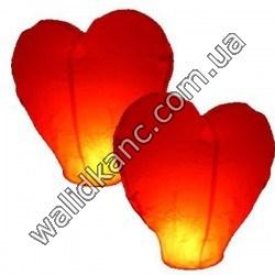 Небесные фонарики - сердце.