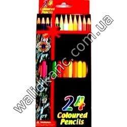 "Карандаши ""Coloured-Pencils""-24 цв."