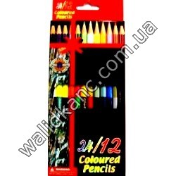 """Карандаши """"Coloured-Pencils""""-2х стр. 12цв."""