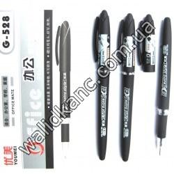 Ручка гелевая 528.черн.