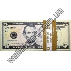 """Сувенирные деньги - """"5$"""""""