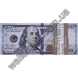 """Сувенирные деньги - """"100 $"""" (новые)"""