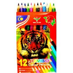 """Карандаши цветные"""" Jumbo"""" - 12 цветов шестигранные."""